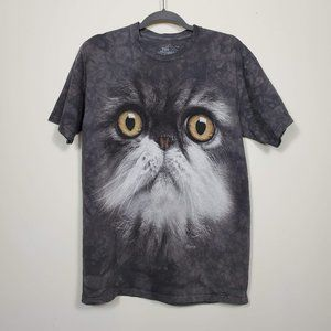 The Mountain Cat Face Tee Gray Size M